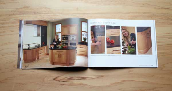 A4 landscape kitchen brochure
