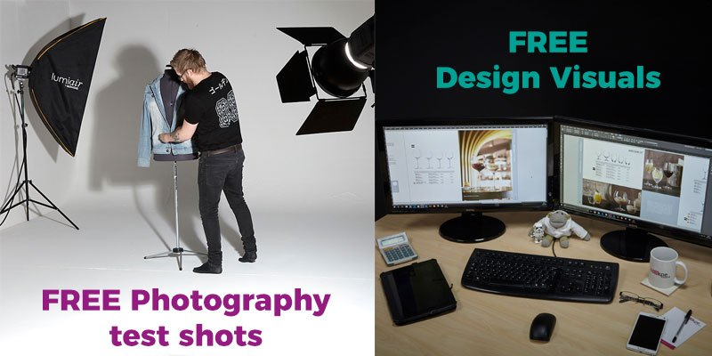 creative test photography and free design visuals